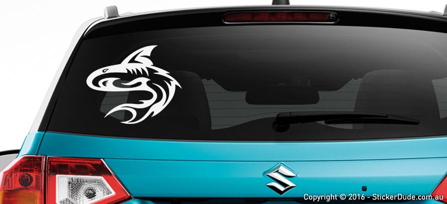 Shark : Tribal Sticker | Worldwide Post | Range Of Sticker Colours