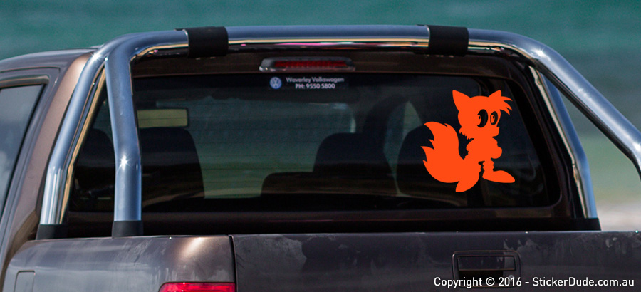 Tails The Fox Sticker | Worldwide Post | Range Of Colours