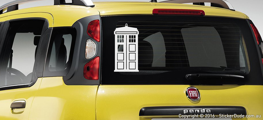 The Tardis - Doctor Who Sticker | Worldwide Post | Range Of Sticker Colours