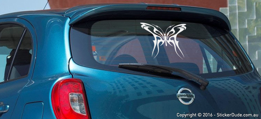 Tribal Butterfly - Flames Ver. 4 Sticker | Worldwide Post | Range Of Sticker Co