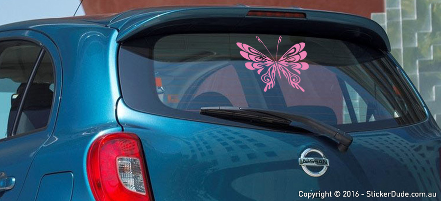 Tribal Butterfly V6 Sticker | Worldwide Post | Range Of Colours