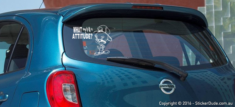 Tweety Attitude Sticker | Worldwide Post | Range Of Sticker Colours