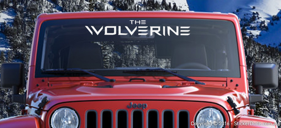 The Wolverine Sticker | Worldwide Post | Range Of Sticker Colours