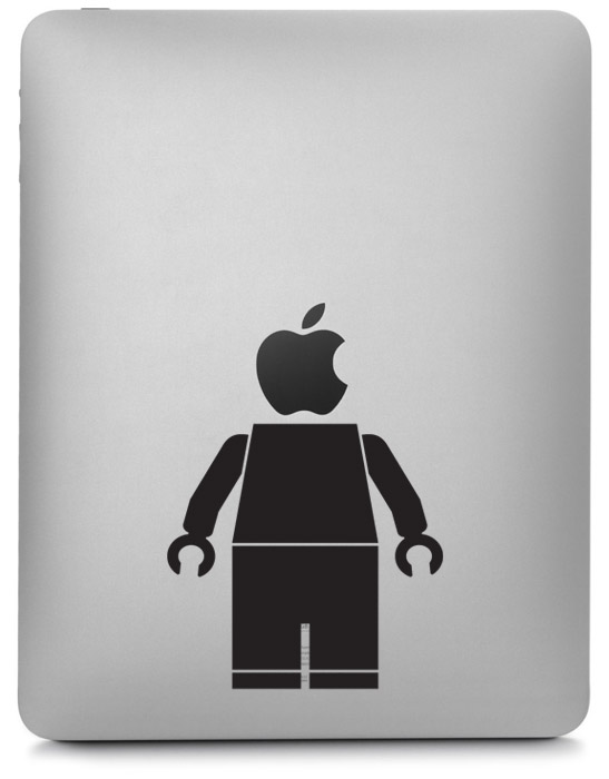 Lego Man iPad Sticker | Worldwide Post | Range Of Sticker Colours