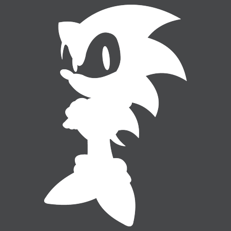 Sonic The Hedgehog Sticker Worldwide Post Range Of Colours